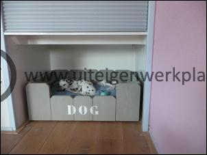 Steigerhout hondenmand model Dog