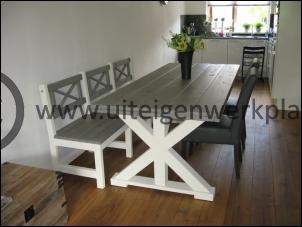 Eetafel met bank,model Julia